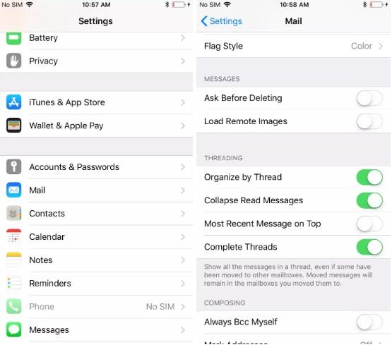 Как настроить почту на IPHONE