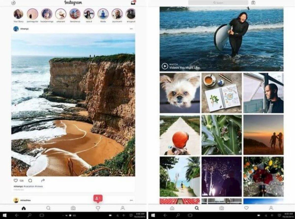 Для Windows 10 существует официальное приложение Instagram