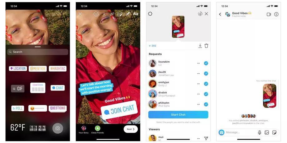 В Instagram теперь можно приглашать в групповые чаты из Stories