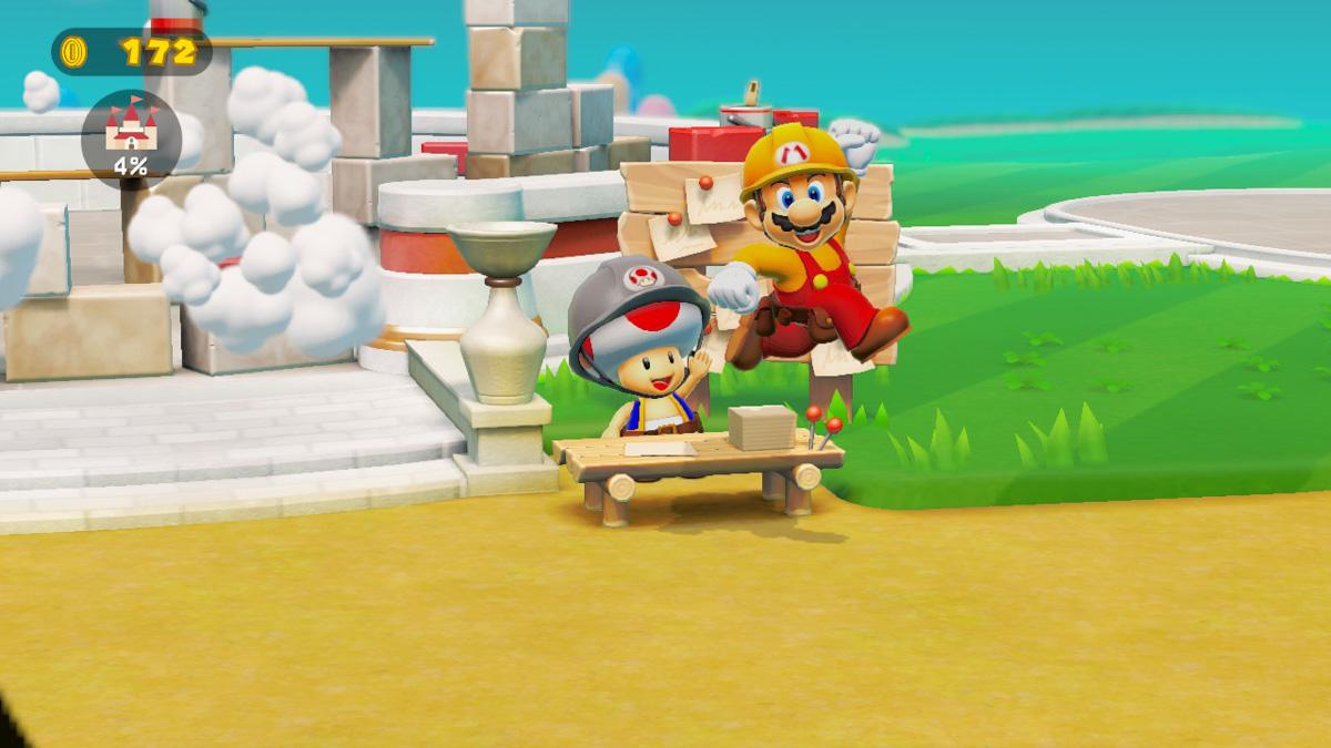 Чтобы отстроить замок, Марио должен зарабатывать монеты
