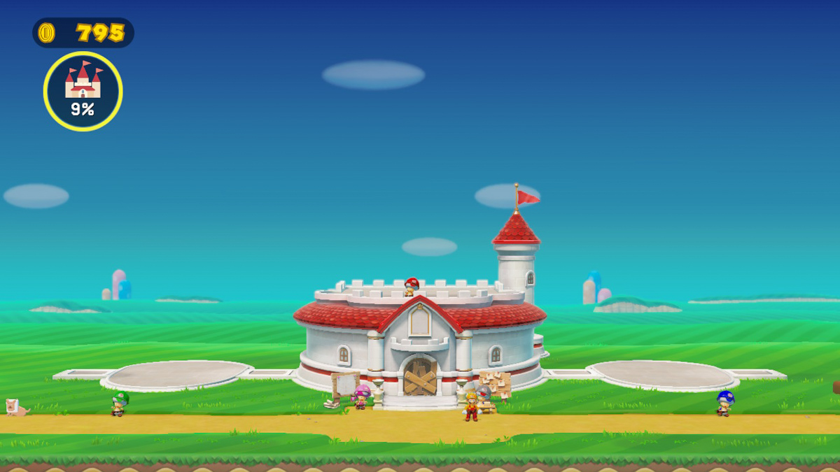 Разрушенный замок принцессы Пич