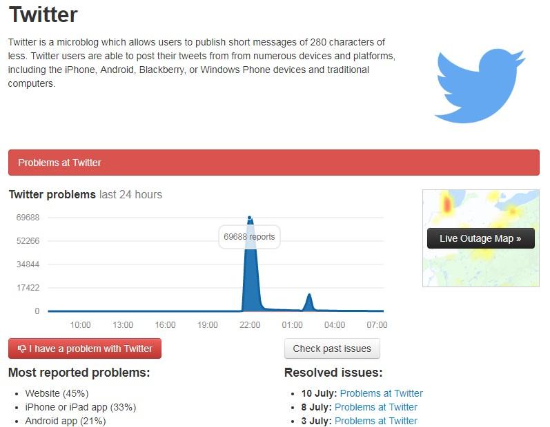 Произошел глобальный сбой в Twitter