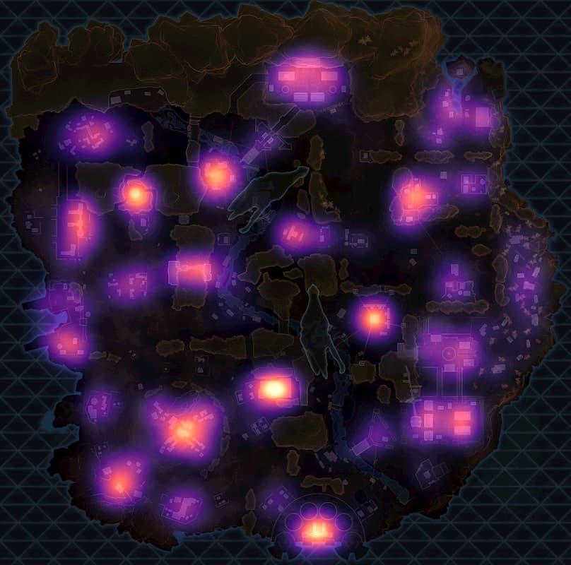 Фанат Apex Legends составил карты самых популярных мест высадки на основе 120 тысяч матчей