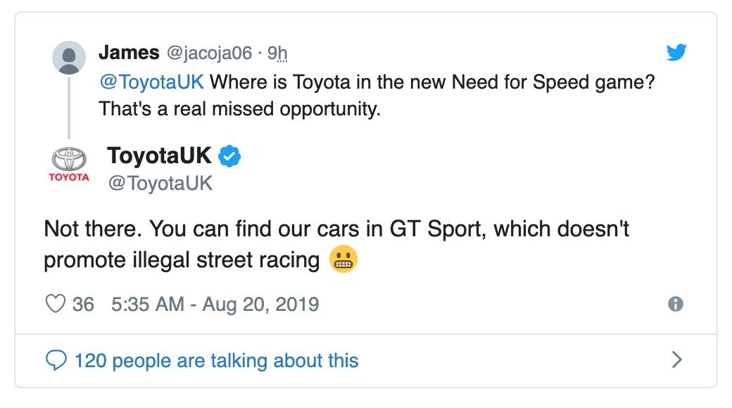 Что изначально написала Toyota