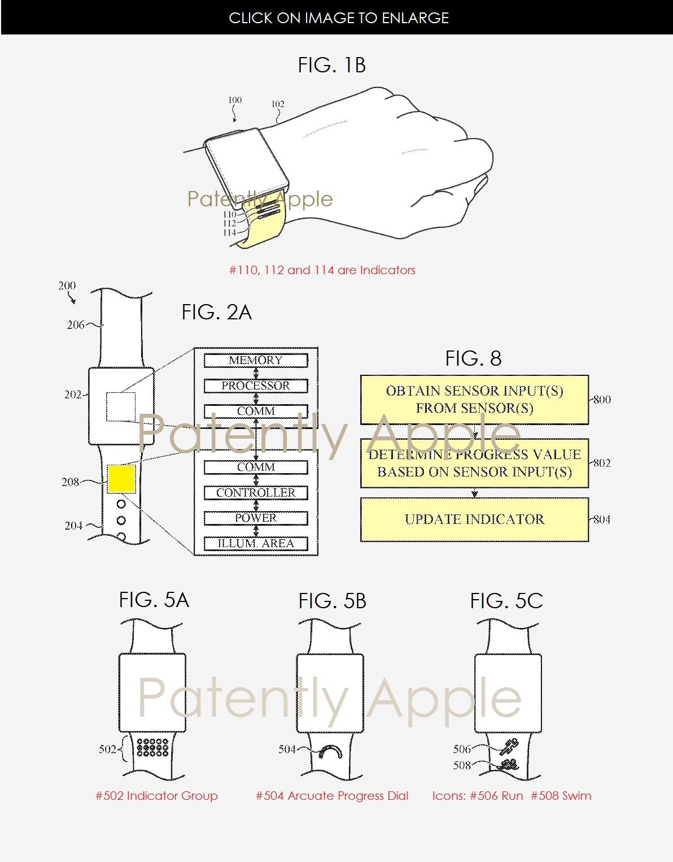 Второй патент описывает ремешок для часов, который может регулироваться сам