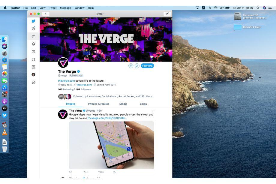 Первый взгляд на Twitter на Mac
