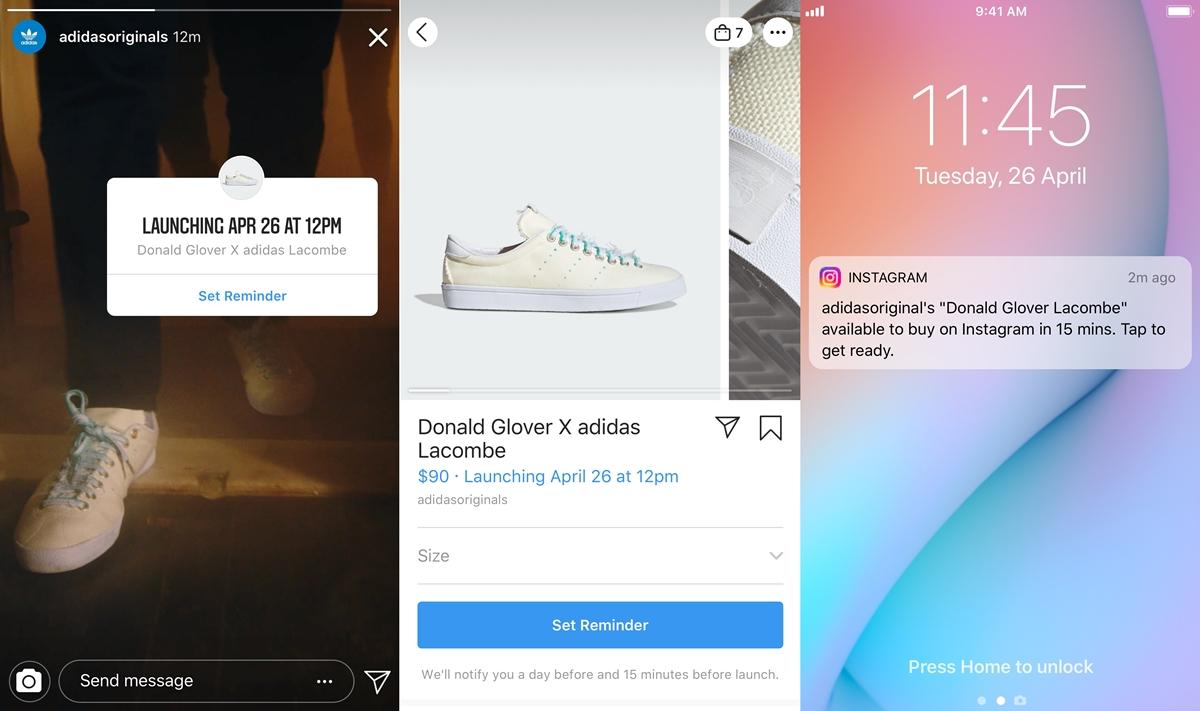 Instagram будет рассылать уведомления о выходе новых коллекций модных брендов