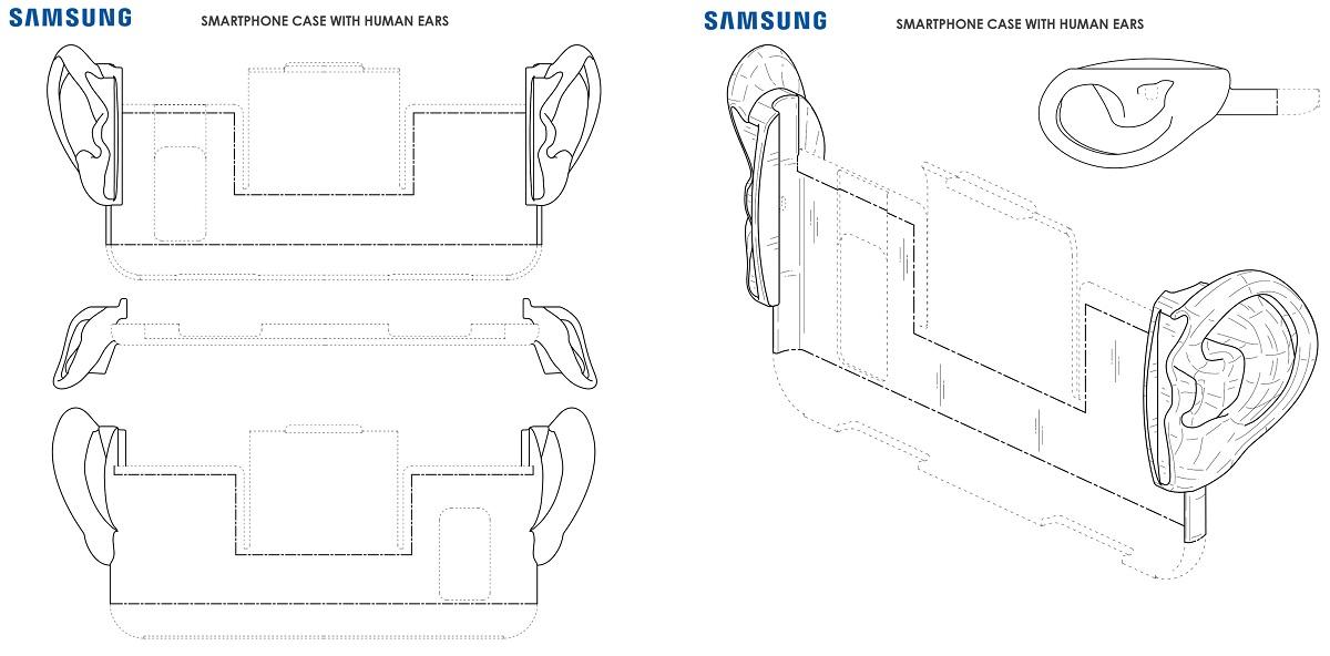 Ушастый кейсик для Samsung