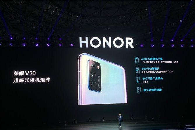 Основная камера в Honor V30 она представлена тремя модулями