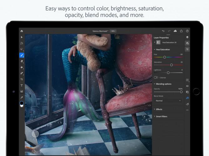 Adobe выпустила Photoshop для iPad