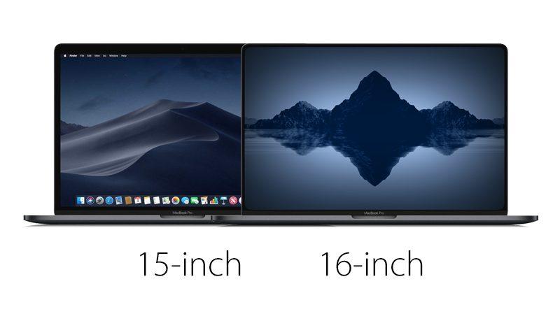 16-дюймовая модель по размерам будет совпадать с 15-дюймовой
