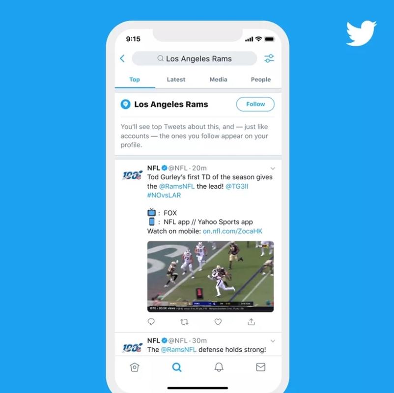 Twitter запустит подписки на темы