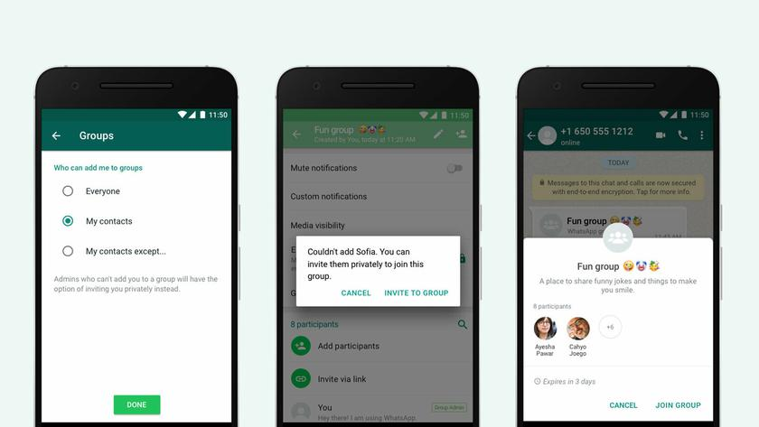 WhatsApp ввел новые ограничения для добавления в группы