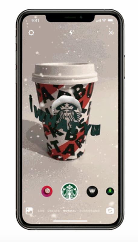 Starbucks ввел свою AR-маску в Instagram