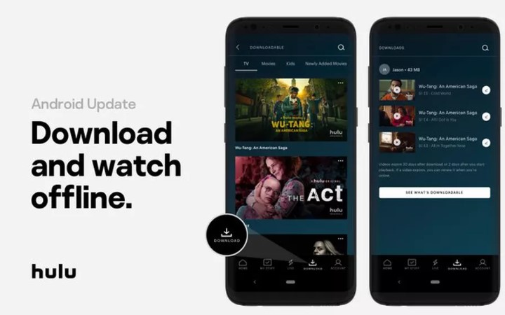 Hulu добавила в Android-версию приложения оффлайн-просмотр