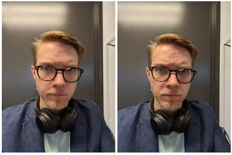 Фото с ретушью и фото без ретуши