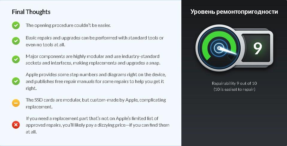Специалисты Mac Pro за свою модульность получил очень высокую оценку iFixit — 9 баллов из 10 возможных
