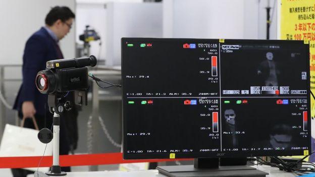 Сканер в аэропорту Нарита в Токио
