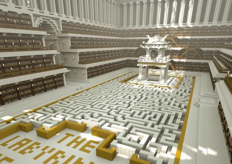 В Minecraft построили библиотеку с текстами, которые не прошли цензуру
