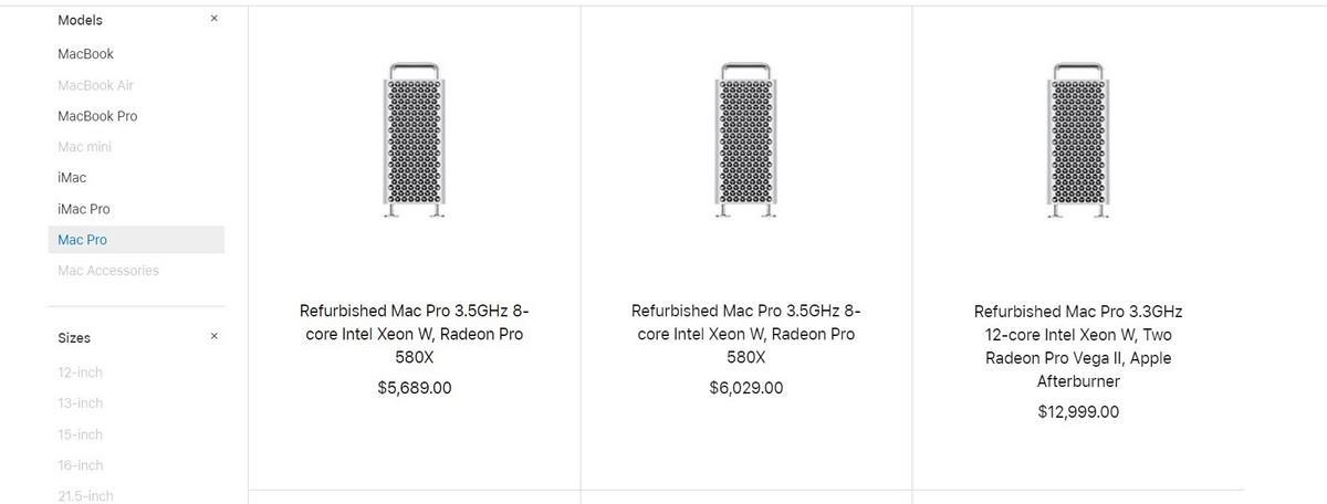 Apple начала продажи восстановленных Mac Pro 2019
