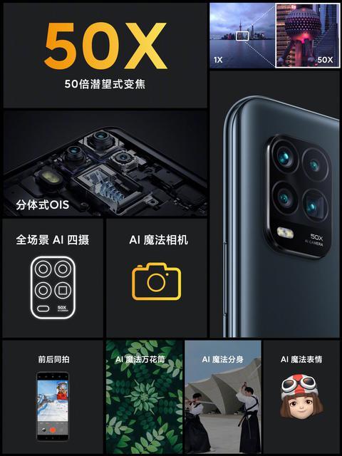 Смартфон поддерживает 5-кратный оптический и 50-кратный цифровой зум
