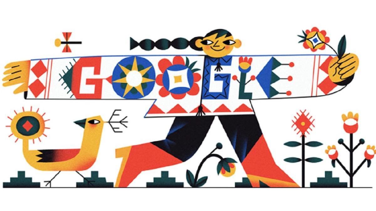 Google создала праздничный дудл ко Дню вышиванки