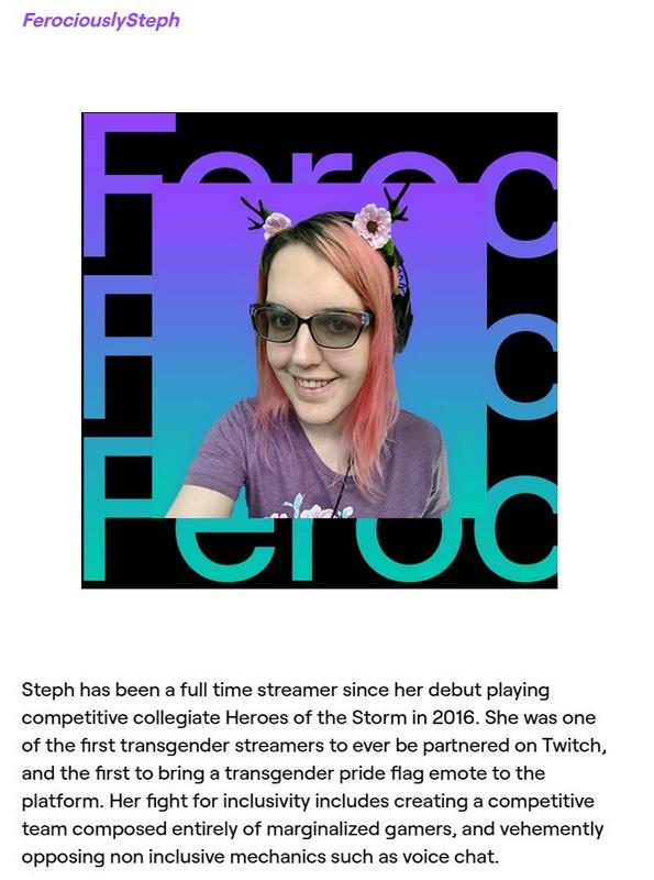Член общественного совета Twitch Стеф Лоер, известный какFerociouslySteph