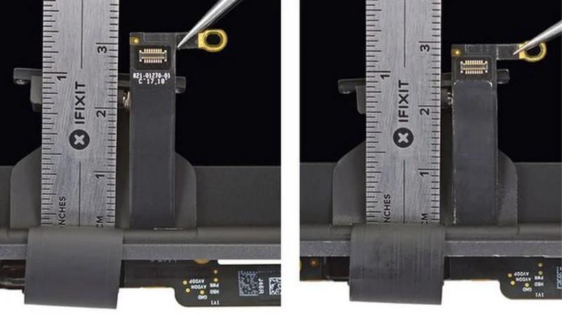 ВMacBook Pro 2018 годашлейф стал на2мм длиннее