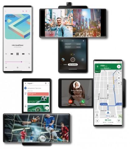 LG официально представила смартфон Wing с вращающимся экраном