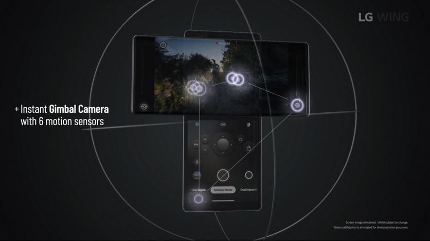 Наиболее интересный сценарий использования T-образной конструкцииLG Wing — съемка видео