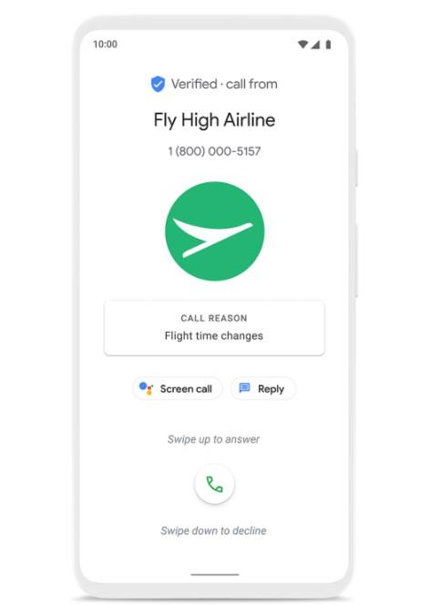 Google представила функцию Verified Calls, которая позволит определить причину звонка