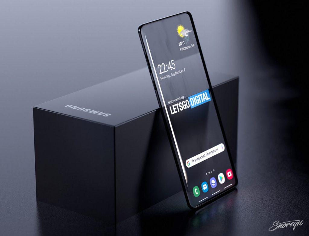Samsung запатентовала смартфон с прозрачным дисплеем