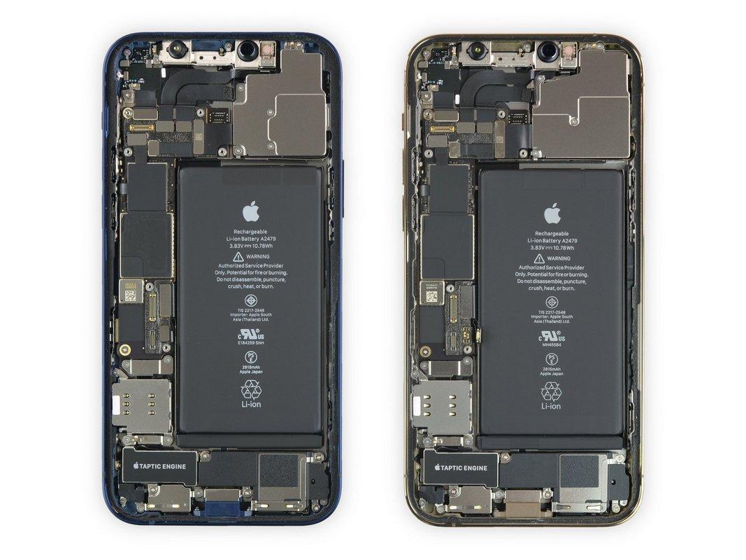 iPhone 12 иiPhone 12 Pro совмещены водном обзоре, так каквнутри они практически одинаковые