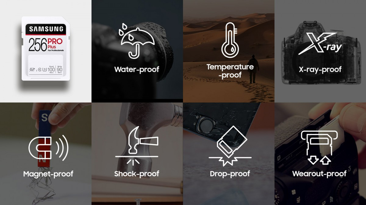 Samsung представила SD-карты, которые способны выживать в соленой воде и при падениях с высоты до 5 метров
