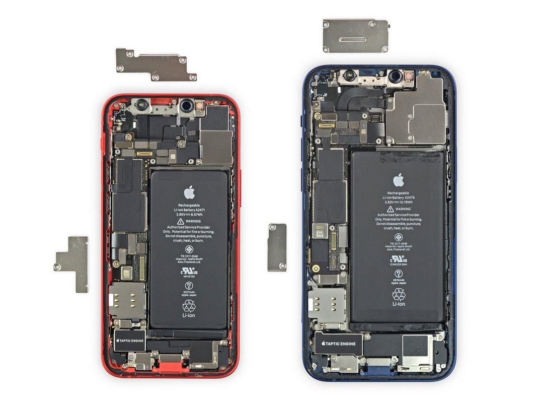 Посравнению сiPhone 12, многие детали iPhone 12 mini изменились
