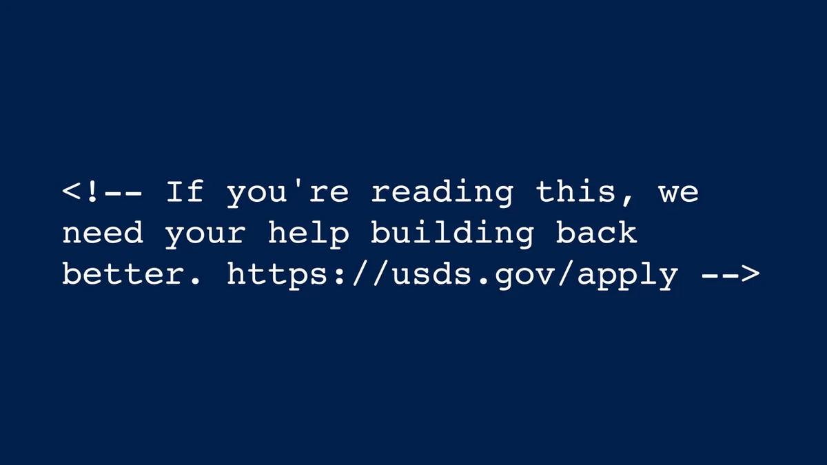 В коде нового сайта Белого Дома нашли сообщение о найме программистов