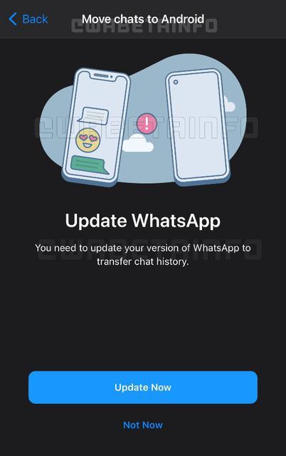В WhatsApp появится возможность переносить чаты между Android и iOS